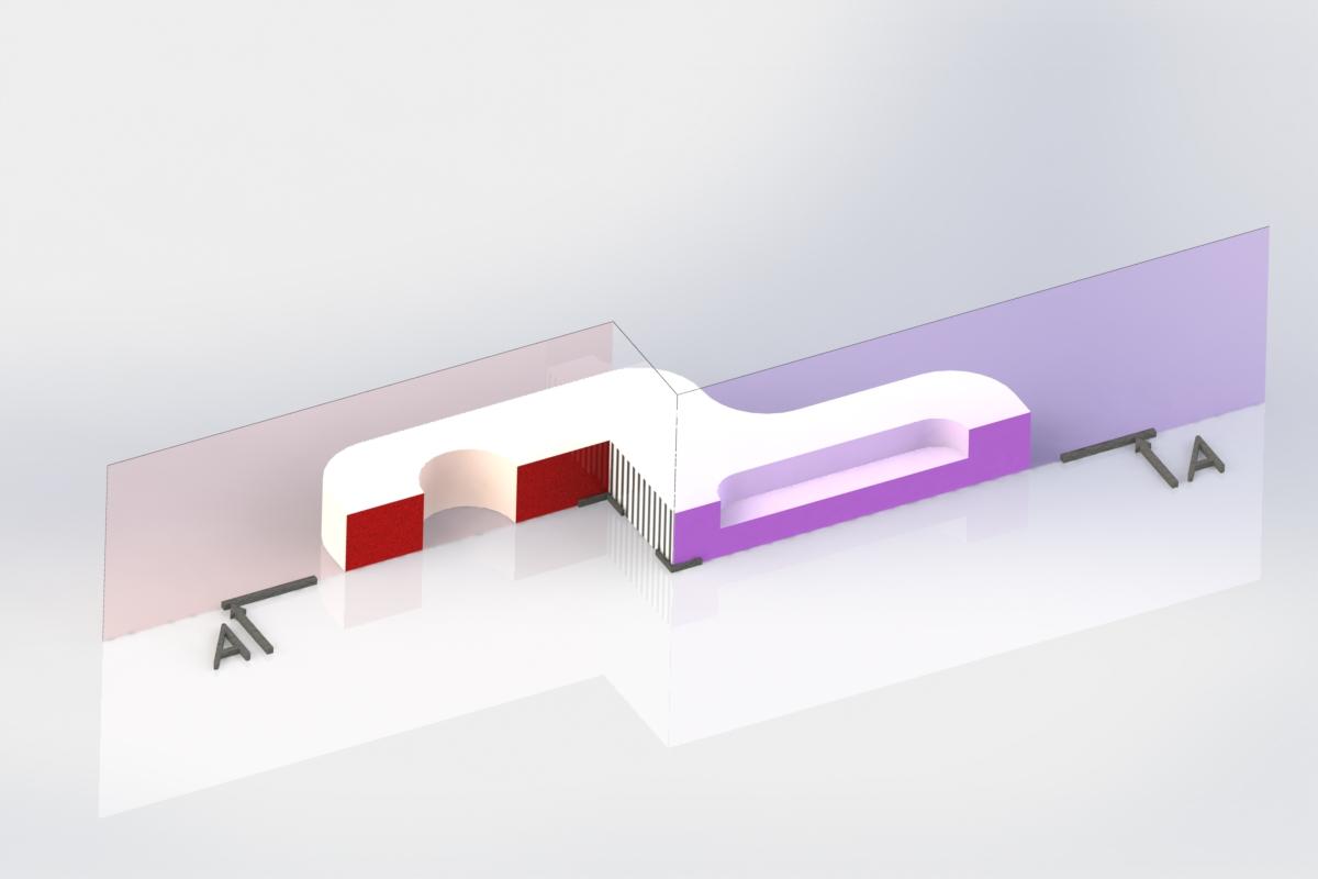 Визуализация сложного, ступенчатого разреза на 3D модели